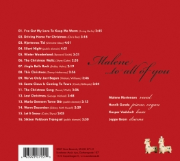 Malene Mortensen - To All Of You - Back Cover