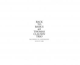 Thomas Clausen - Back To Basics - Front Cover