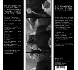 Ed Thigpen - YOU AND THE NIGHT AND THE MUSIC + MASTER OF TIME, RHYTHM & TASTE - Back Cover