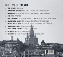 Inger Marie Gundersen - For You - Back Cover