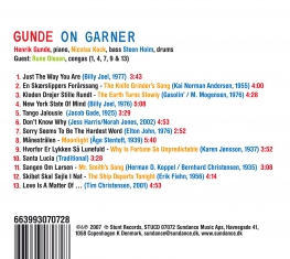 Gunde On Garner - Songs That Could Have Been Played By Erroll Garner... - Back Cover